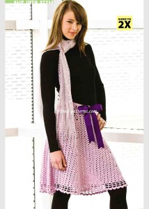 Lilac Lace Skirt
