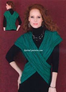 Leaf and Cable Vest