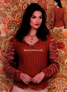 Lacy Rib Pullover