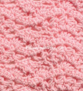 Chevron Crowns - crochet stitch