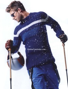 Men's pullover: free knitting pattern