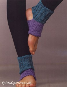 Open-toe and -heel socks: free knitting patterns