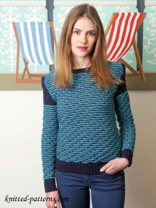Women's sweater: free knitting pattern