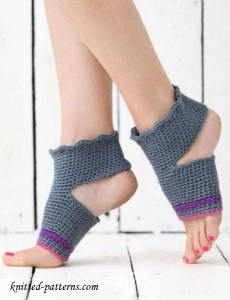 Crochet Yoga Socks