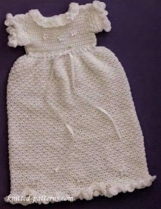 Christening dress crochet pattern free