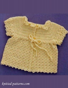 Baby sacque crochet pattern free