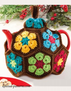 African Flower Tea Cozy Free