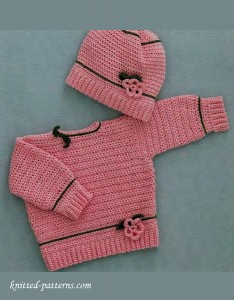 Baby set (pullover and hat)