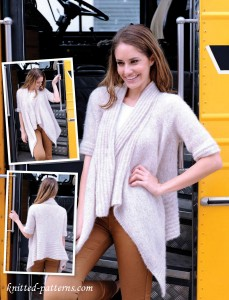 Wrap cardigan knitting pattern free