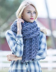 Cable knit stole pattern free