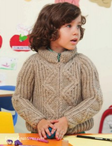 Boy's raglan jacket knitting pattern free