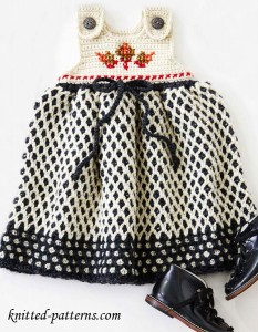 Crochet dress for girls pattern free
