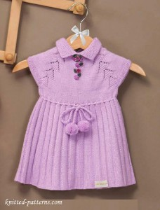 Knitted dress for premature babies