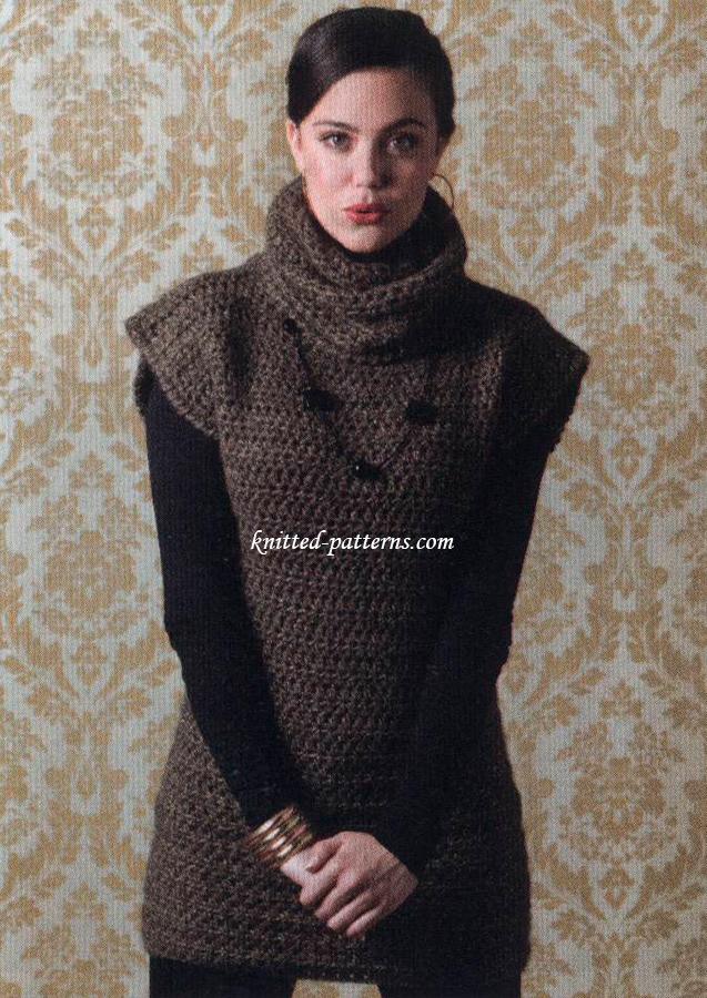 Crochet tunics and dresses