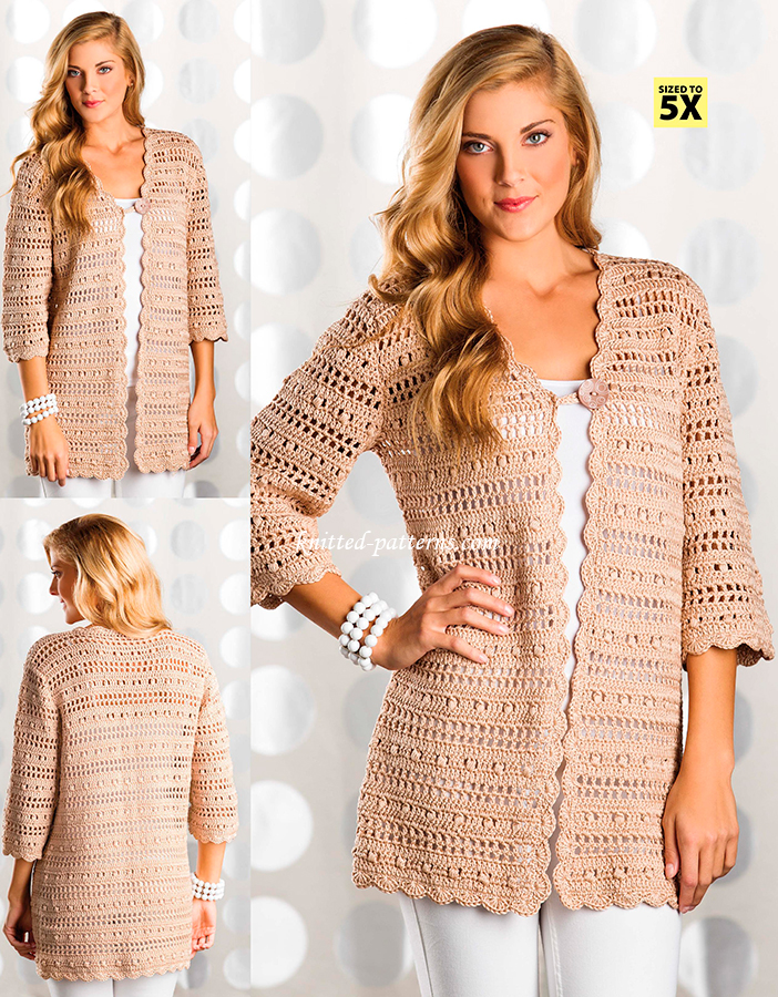 Crochet womens cardigans