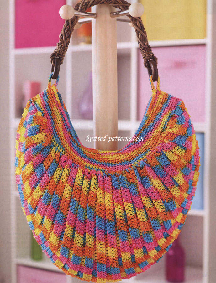 Crochet womens bags and accessories