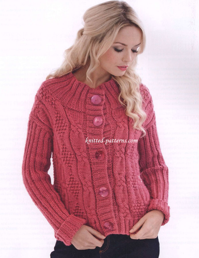Free women\'s jackets knitting patterns