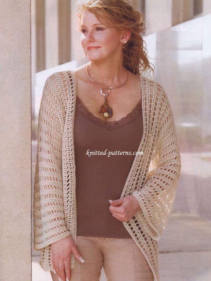Free Crochet Patterns For Women s Jackets : Crochet womens jackets