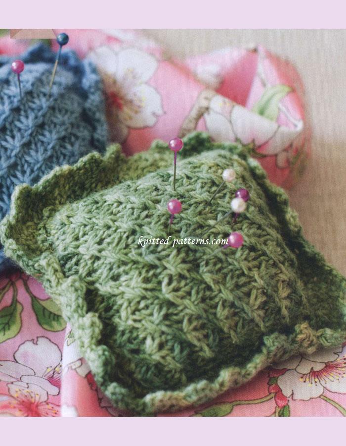 Knitting Pattern Pin Cushion : Knitted pincushion
