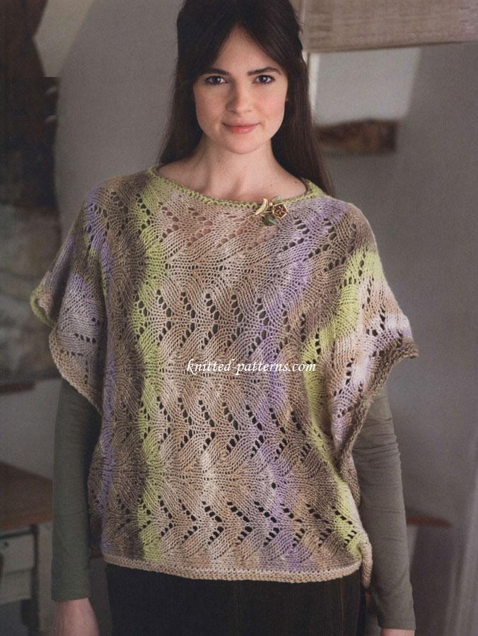 Free women\'s ponchos knitting patterns