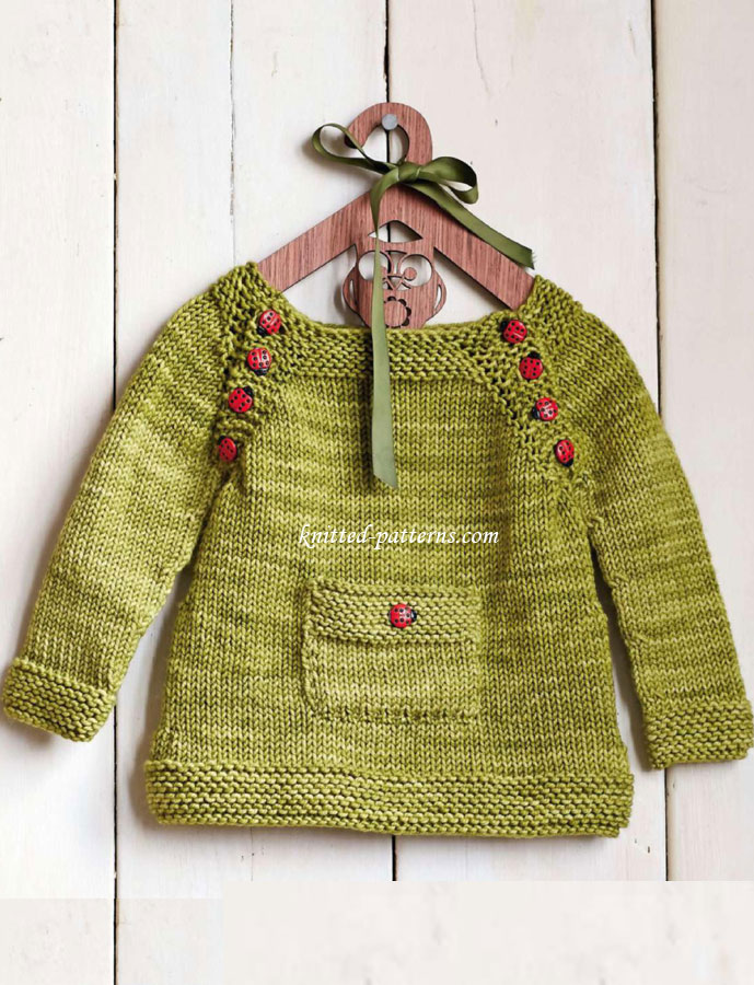 Free Knitting Patterns For Children s Pullovers : Pullover for kids