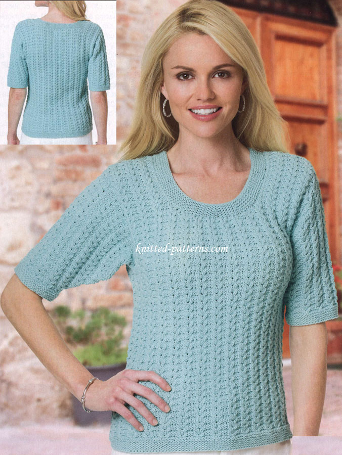 Knitting patterns - tops and shirts