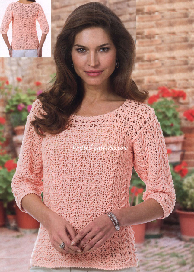 Free Crochet Pattern For Ladies Top : Womens crochet tops and shirts