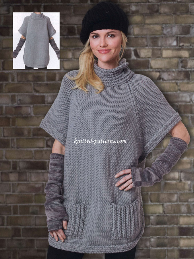 Free Womens Ponchos Knitting Patterns