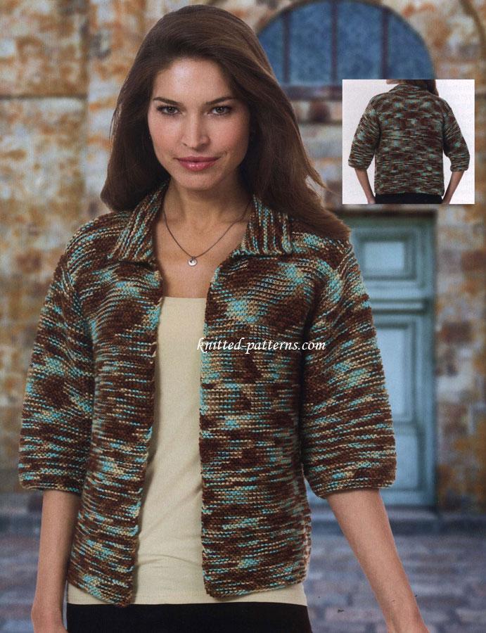 Free women\'s jackets knitting patterns