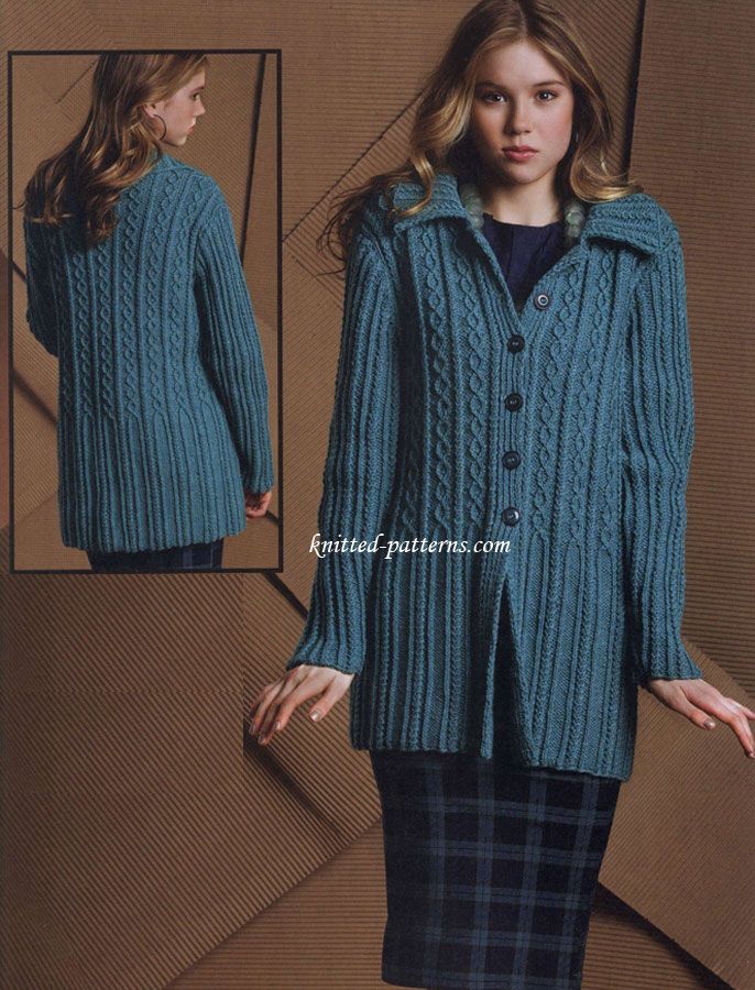Women s Cardigan Knitting Patterns : Womens cardigans knitting patterns