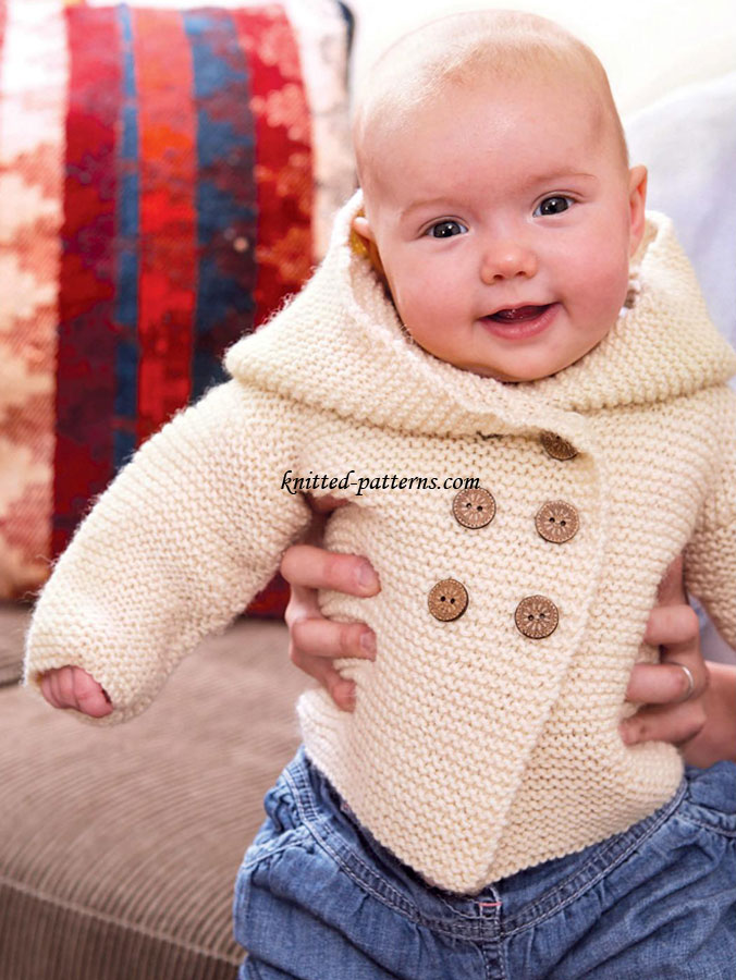 Childrens Hood Knitting Pattern : Childs jacket