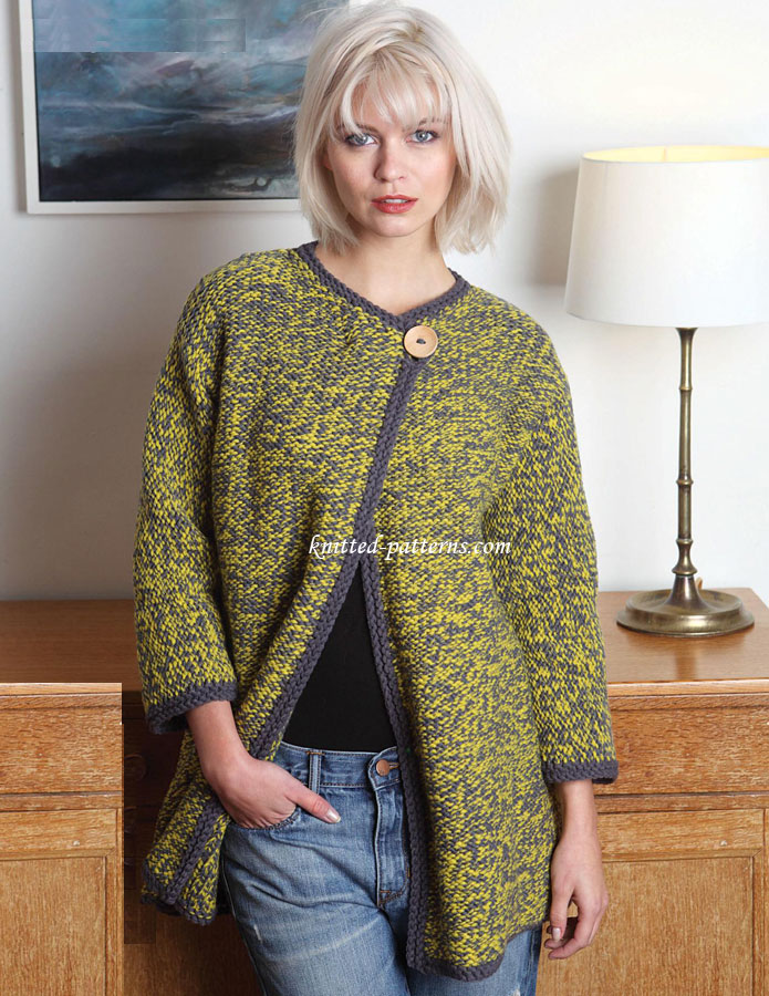 Knitting Pattern For Chunky Ladies Cardigan : Womens cardigans knitting patterns