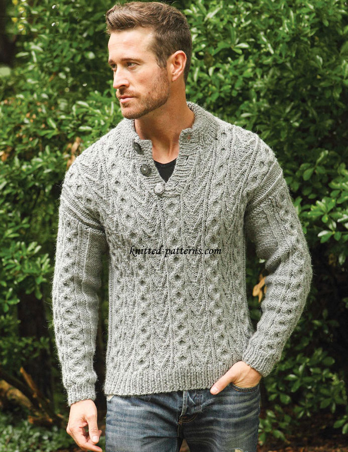Mens Cardigan Knitting Patterns : Mens pullovers and sweaters knitting patterns