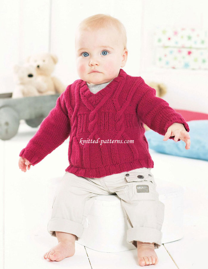 Knitting Sweater For Kids : Child s cabled sweater