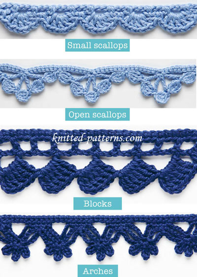 Crochet Stitches Decorative : Crochet edgings and trims can be used to decorate all kinds of things ...