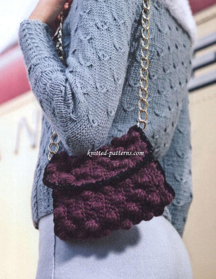 Knitting Pattern Website : Crocheted bag
