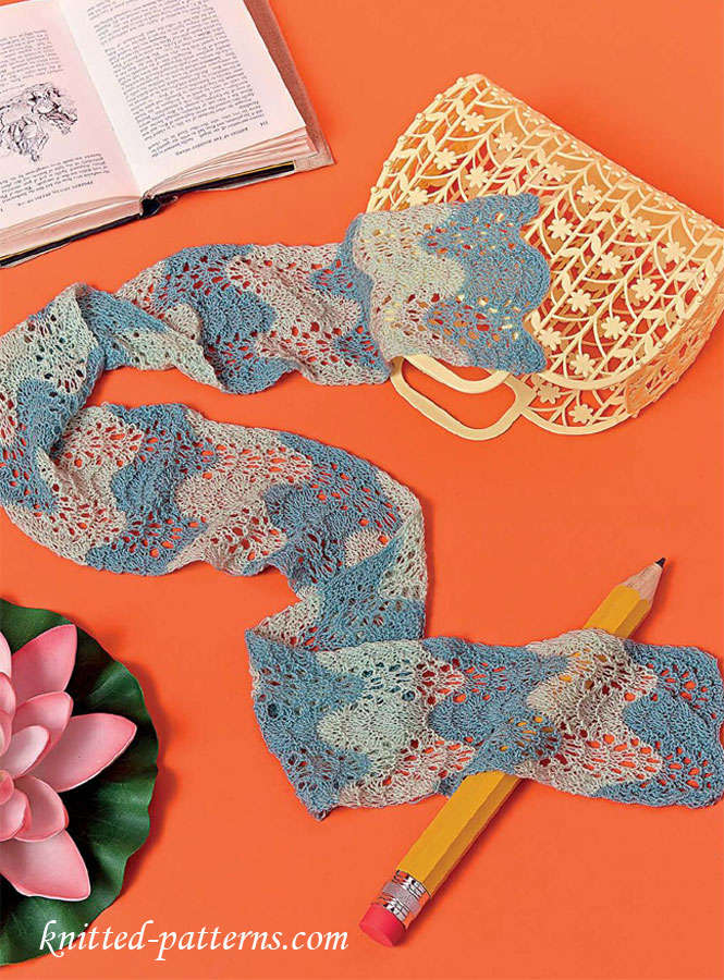 Ripple Lace Knitting Pattern : Lace ripple scarf