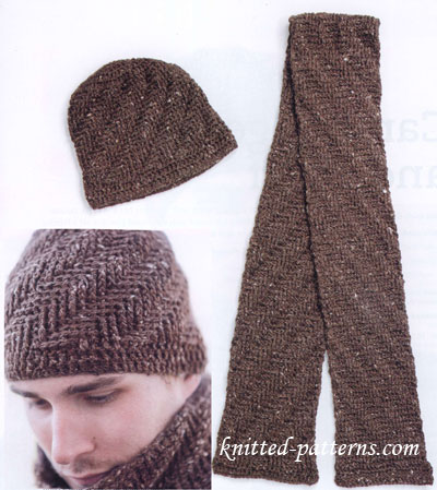 Baby Blankets Free Knitting Patterns : Free crochet mens hat and scarf patterns