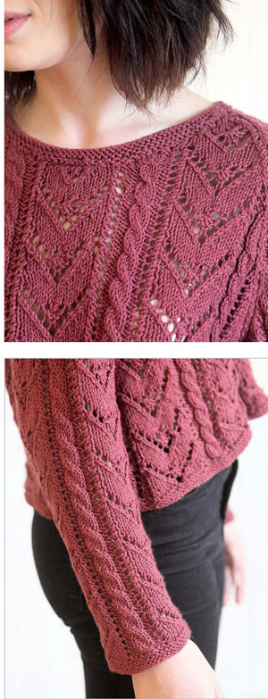 Knitting Joining Raglan Seams : Lace chevron jumper