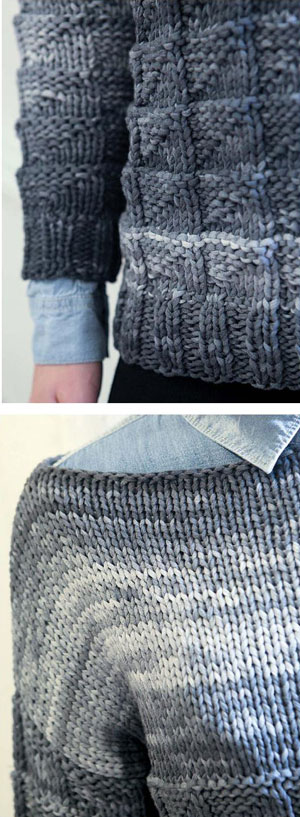 Knitting Joining Side Seams : Textured sweater