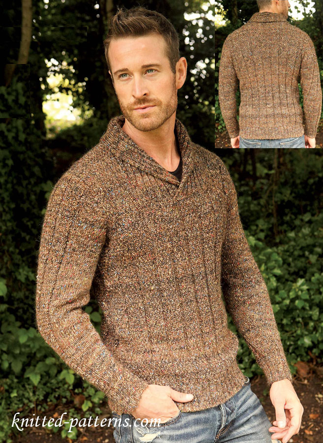 Free Pullover Knitting Patterns : Mens jumper: free knitting pattern