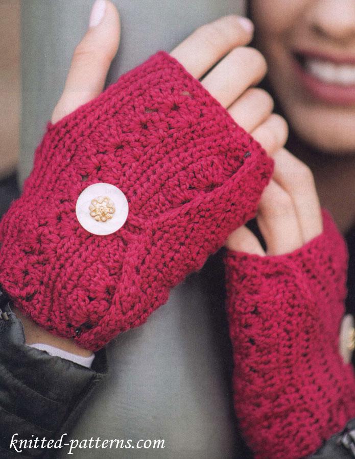 Free Crochet Fingerless Mitts