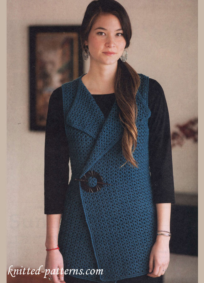Free Crochet Patterns Vests Beginners : Crochet Vest free pattern
