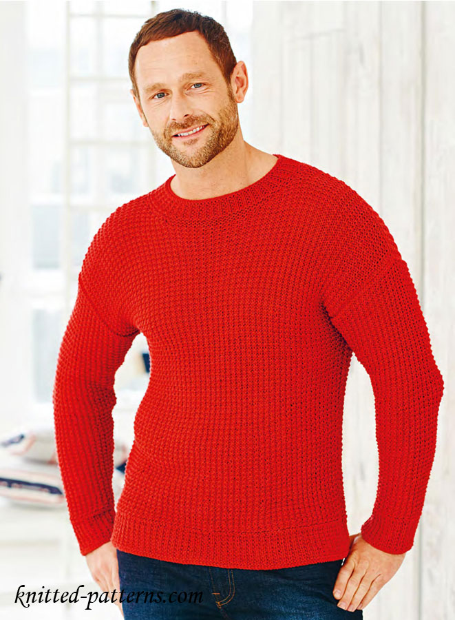 Mens Jumper Knitting Pattern : Mens pullovers and sweaters knitting patterns