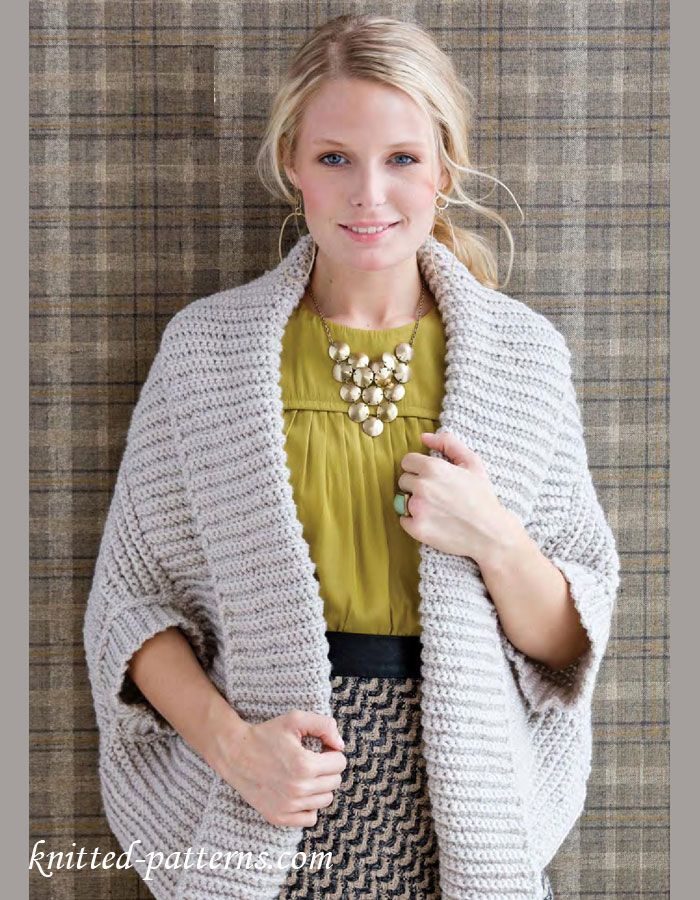 Free Knitting Pattern For Shrug : Crochet womens bolero