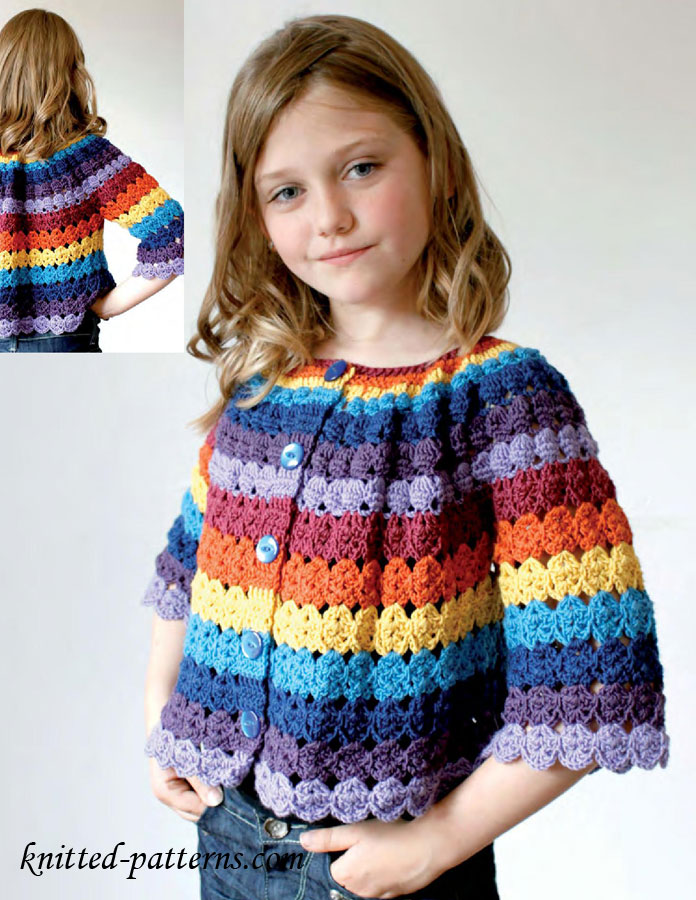 Free Crochet Patterns For Cardigan Sweaters : Crochet cardigan free pattern