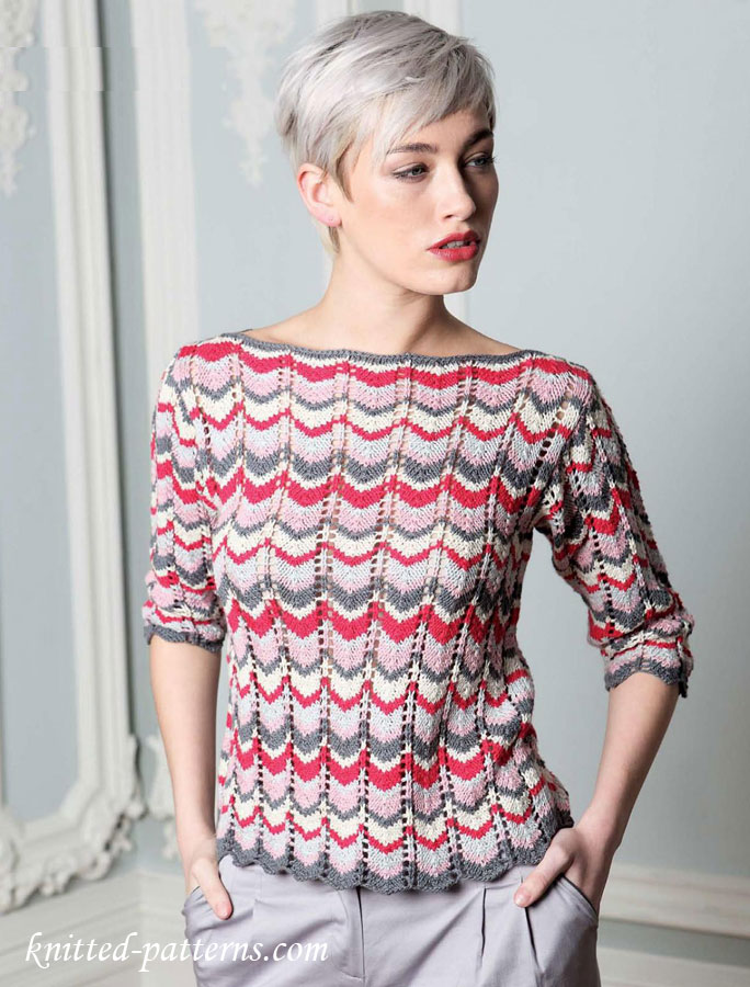 Free womens pullovers knitting patterns