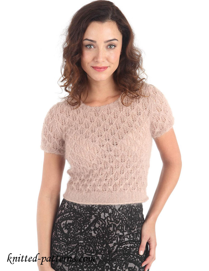 Knit Top Patterns : Candlelight lace top
