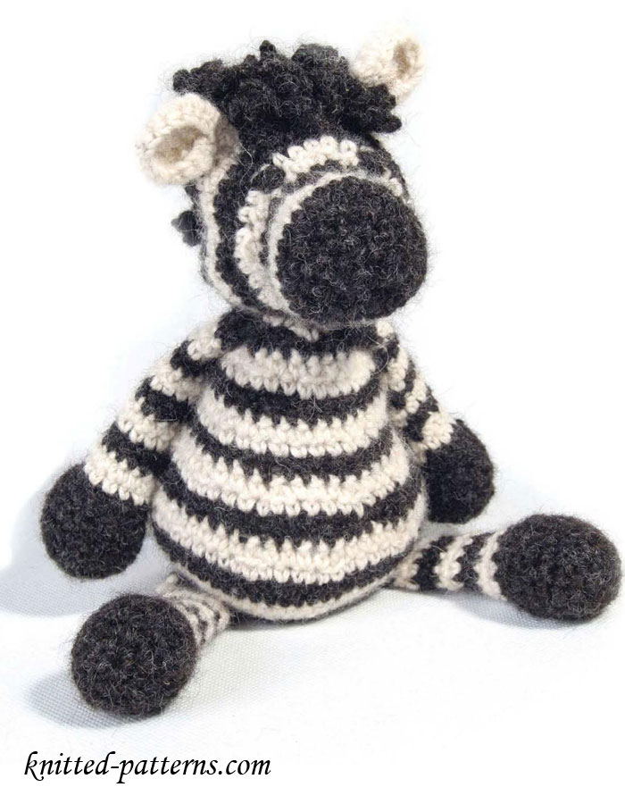 Free Crochet Zebra Patterns : Zebra Toy - Free Crochet Pattern