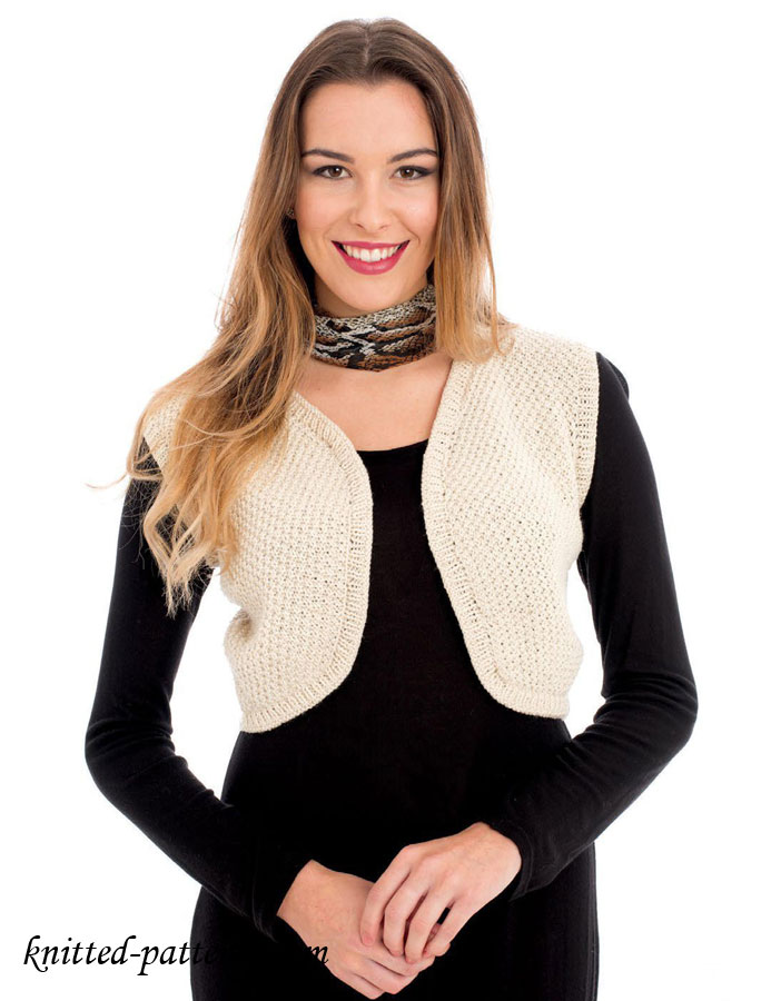Womens Knitting Vest Patterns : Little vest knitting pattern